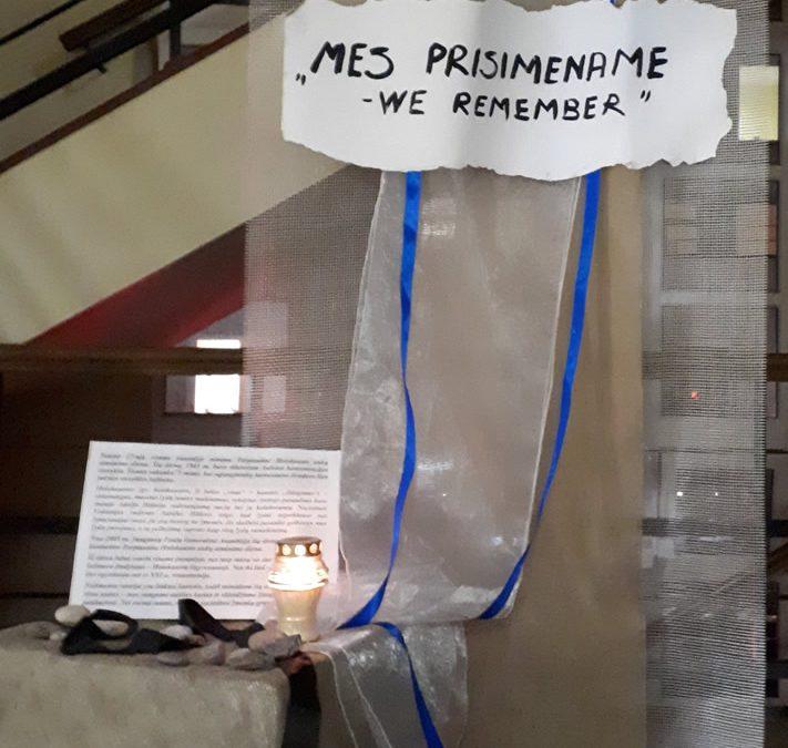 Tarptautinę Holokausto dieną minint